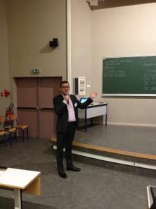 Yann, notre intervenant RH lors de notre plénière sur la simulation d'entretien.